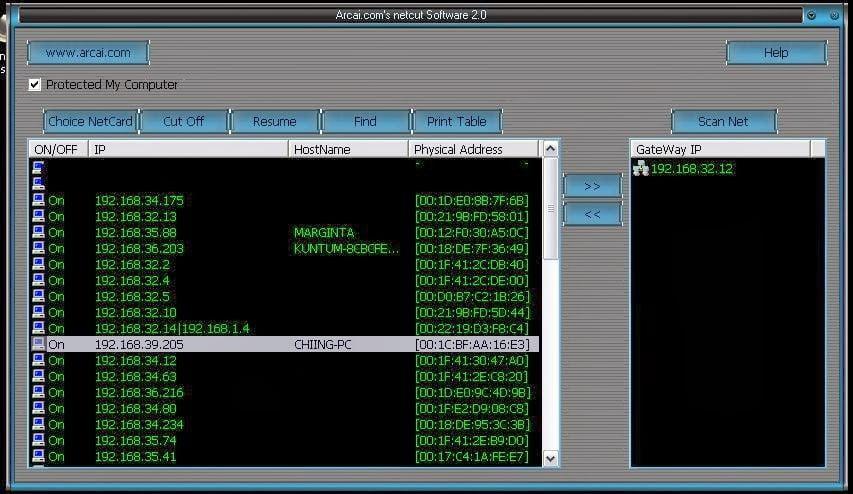 Văn Long Blog phan-mem-netcut NetCut - Phần Mềm Ngắt Mạng Nội Bộ Phiên Bản Phần Mềm